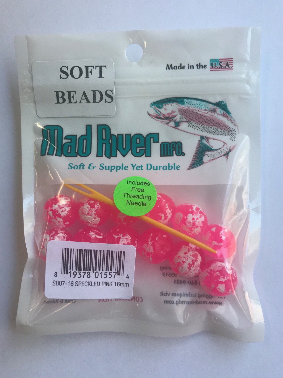 Soft Beads, Speckled Pink