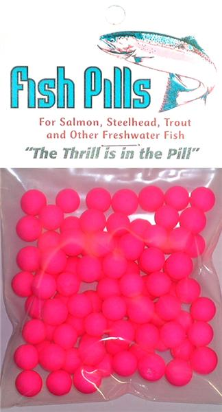Fish Pills Standard Packs:Fluorscent Pink