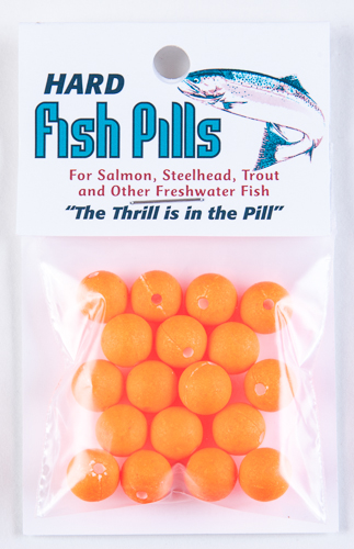 Hard Fish Pills/Floaties - Florescent Orange