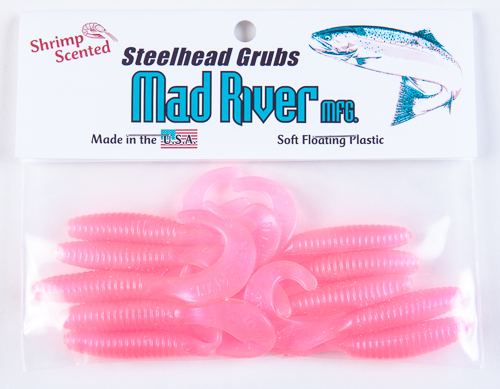Steelhead Grubs: Florescent Pink