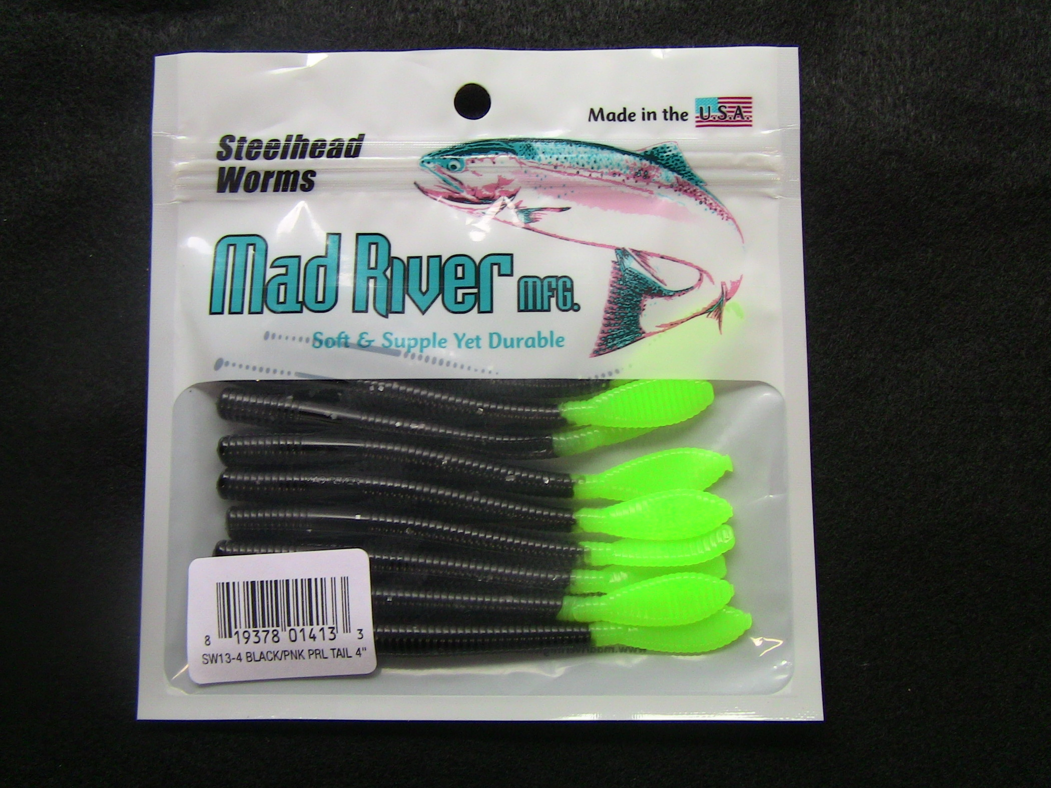 Steelhead Worms: Green Tailed Skunk