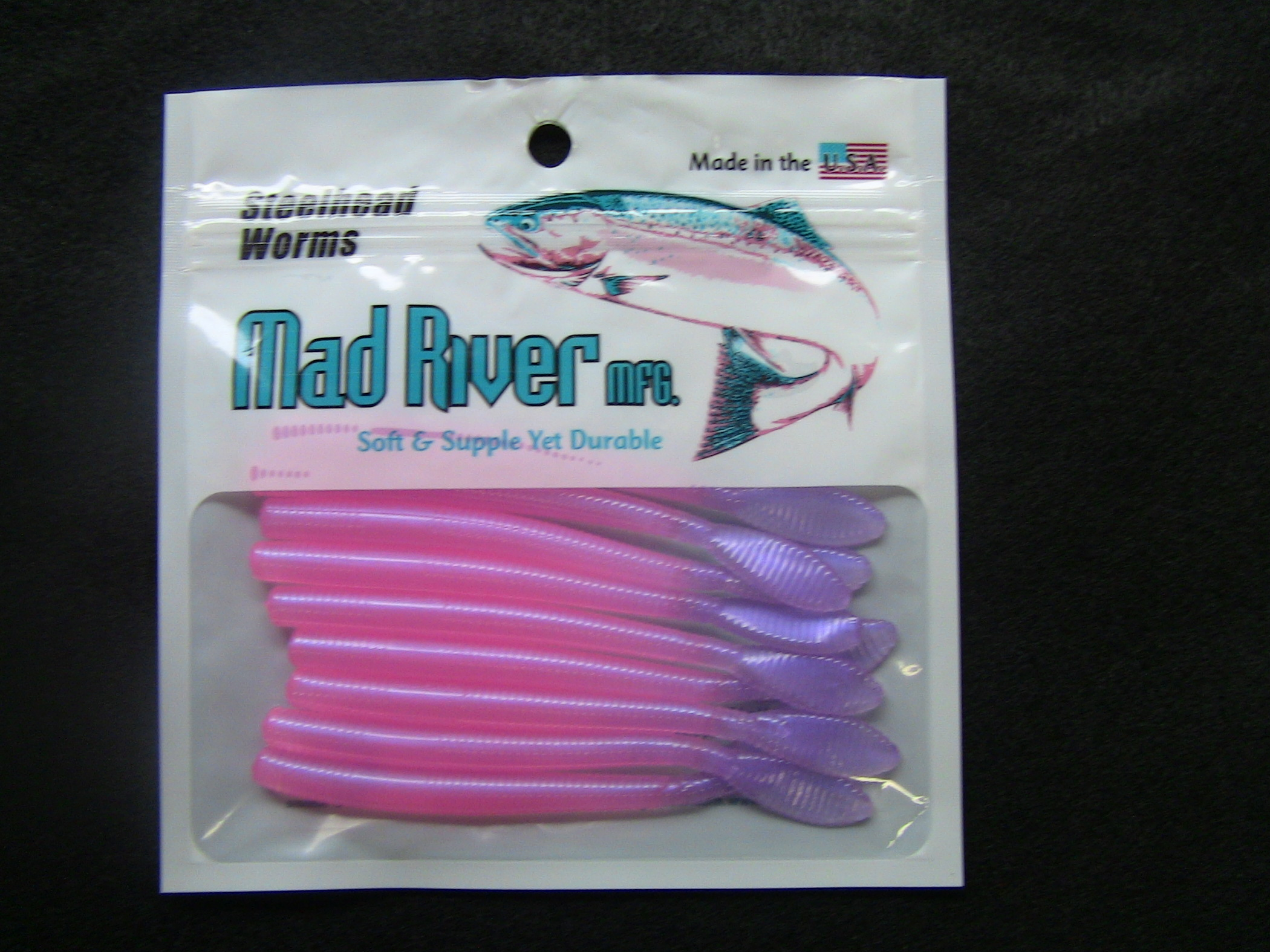 Steelhead Worms: Nail Polish Pink