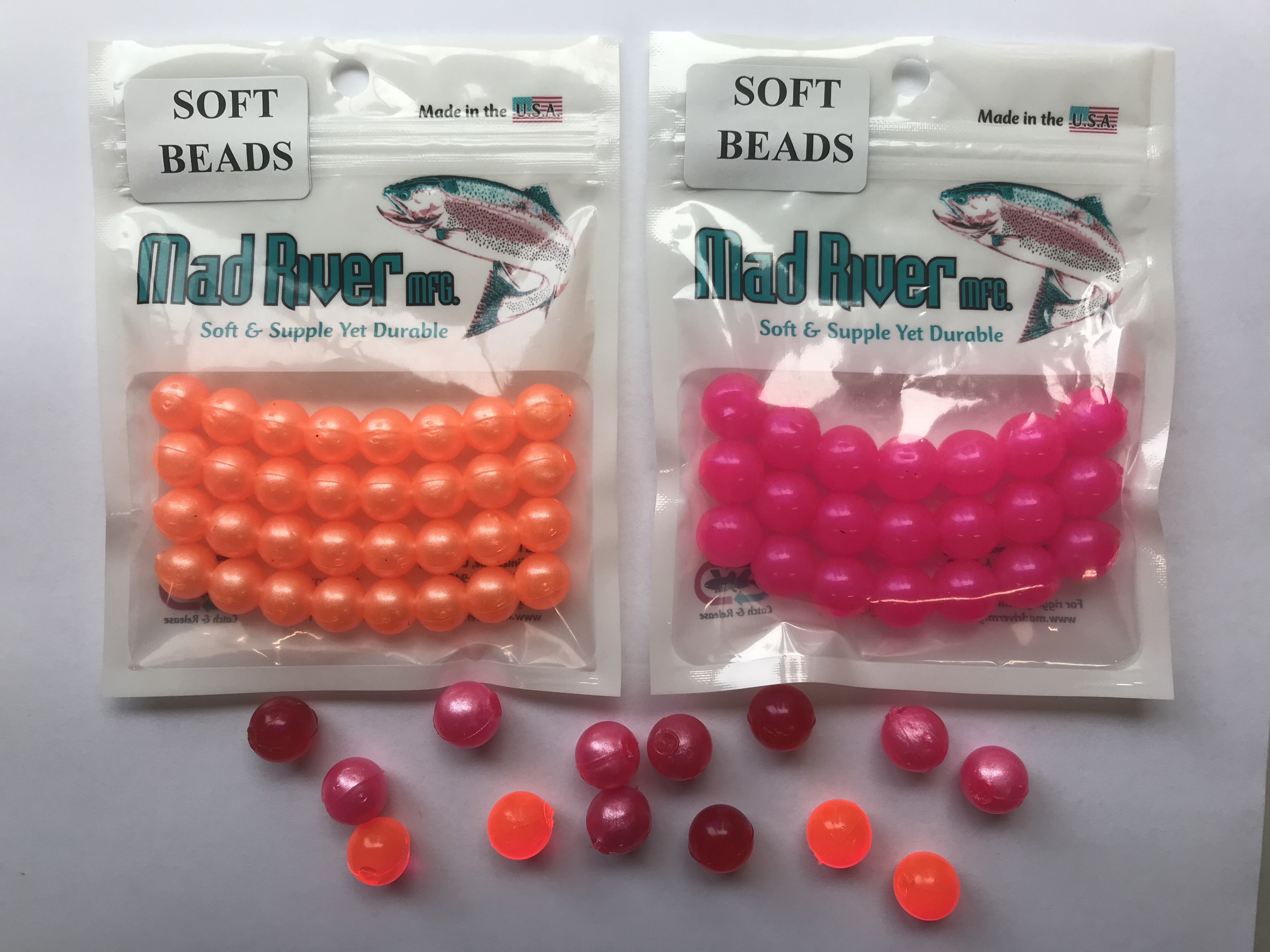 Soft Beads, Orange Pearl