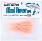 Trout Worms: Fluorescent Orange