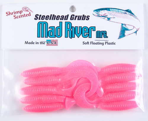 Steelhead Grubs: Pink Haze
