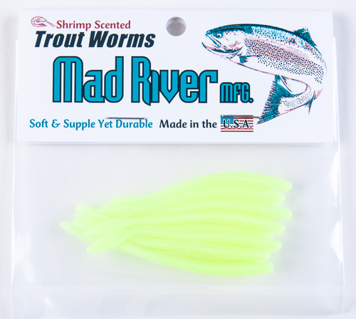 Trout Worms: Chartreuse