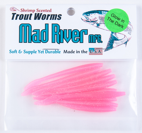 Trout Worms: Glow Pink